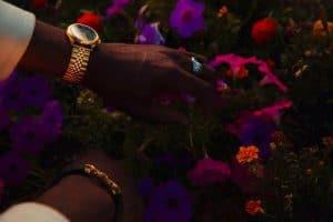 Bracelet montre or